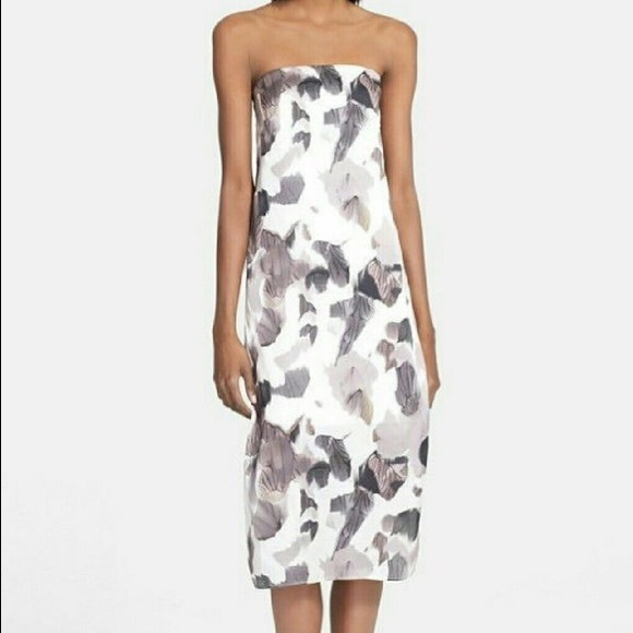 2cd1ffa7d8257 Helmut Lang Dresses & Skirts - Helmut Lang Crypsis Print Strapless Silk  Dress